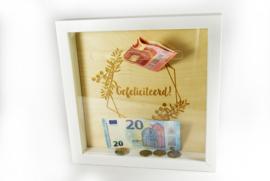 Spaarpot - geldkader - gegraveerd