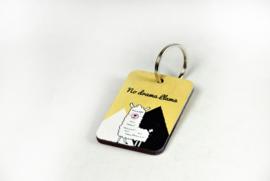 Houten sleutelhanger - full color bedrukt - vanaf 10 stuks