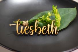 Namen tafelverdeling in hout