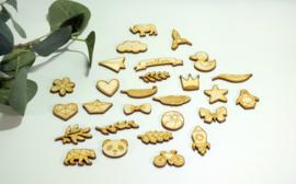 Houten figuurtjes - per 10 stuks