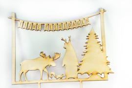 Taart decoratie  feestdagen