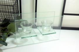Theelichthouder glas - 2