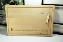 Snijplank hout - gegraveerd