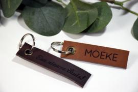 Lederen sleutelhanger - vanaf 10 stuk