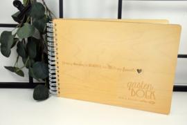Boek met houten kaft - full color bedrukt - A6