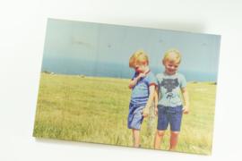 Houten paneel met bedrukking - 20 x 30 cm