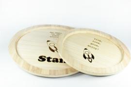 Houten borden - set van 2 stuks