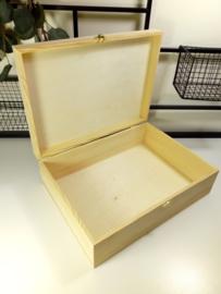 Houten doos met scharnierdeksel - bedrukt
