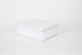 Rechthoekig blik - mat wit - groot