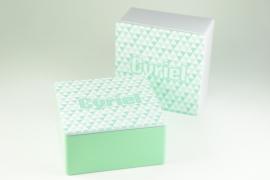 Vierkant blikje met full-color bedrukking - vanaf 10 stuks