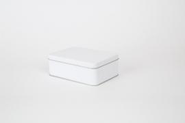 Rechthoekig blik - mat wit - klein