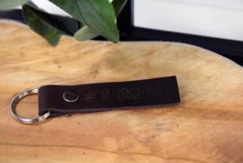 Lederen sleutelhanger dubbel - per stuk