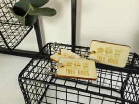 Houten gegraveerde sleutelhanger - vanaf 10 stuks
