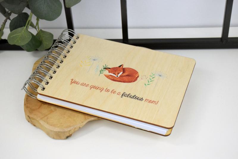 Boek met houten kaft - full color bedrukt - A5