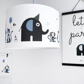 Lamp babykamer dieren - jeans blauw