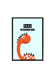 Dino poster 3 - met naam