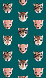 Jungle kamer behang Studio Ditte (Panthera groen)