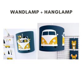 Lampen set - safari VW bus donkerblauw