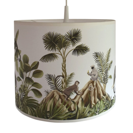 Lamp jungle kinderkamer - jungle dieren apen en olifant