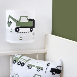 Wandlamp kinderkamer  voertuigen - olijf groen