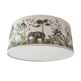 Plafondlamp jungle kinderkamer giraffe en olifant