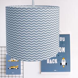 Lamp zigzag jeansblauw