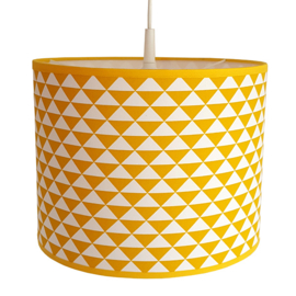 Lamp driehoek oker geel