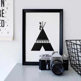 Poster tipi zwart wit