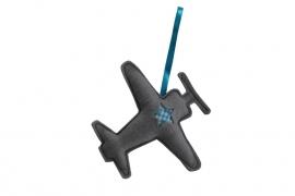 Vliegtuig hanger (grijs-aquablauw)