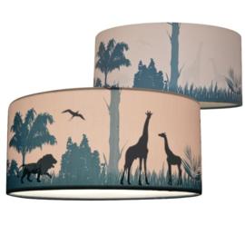 Plafondlamp jungle safari kinderkamer - silhouet
