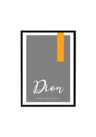 Geboorteposter Dior