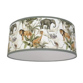 Plafondlamp safari jungle kinderkamer (wit)
