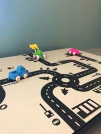 Autobaan sticky roads peuterklas juf Amber