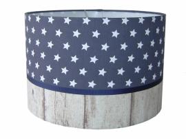 Lamp jongenskamer grijs - blauw met sterren