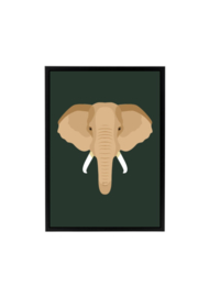 Poster jungle kamer - olifant