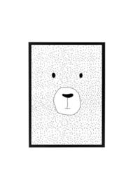 Poster kinderkamer beer zwart wit