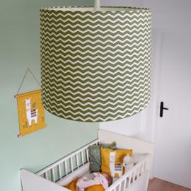 Lamp zigzag - olijfgroen