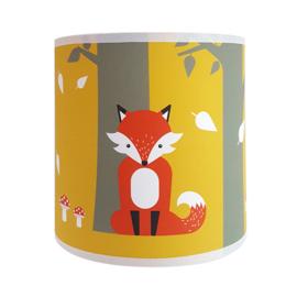 Wandlamp kinderkamer  vos - oker - terracotta rood