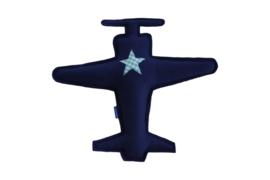 Vliegtuig knuffel (blauw - blauw)