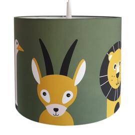 Lamp safari jungle dieren kinderkamer - diverse kleuren