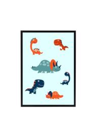Dinosaurussen poster kinderkamer