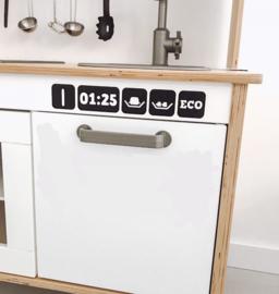 Ikea keukentje sticker vaatwasser knoppen
