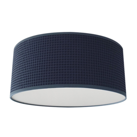 Plafondlamp wafelstof donker blauw
