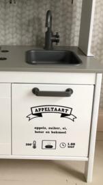 Ikea keukentje sticker set (oven + magnetron + recept + draaiknopjes)