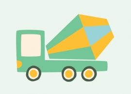 Kaart kinderkamer auto vrachtwagen - betonmolen