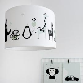 Lamp babykamer dieren - mint (old green)