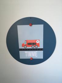 Poster brandweer kinderkamer Timme