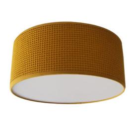 Plafondlamp wafelstof oker geel