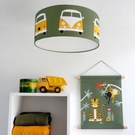 Plafondlamp VW bus - olijfgroen oker