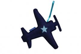 Vliegtuig hanger (blauw-aquablauw)